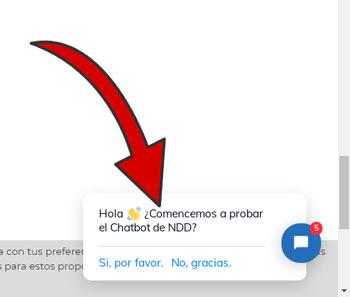 comienza la prueba del chatbot
